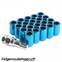 Radmuttern Tuner blau Stahl Kegelbund