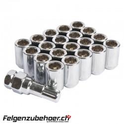 Radmuttern Tuner chrom Stahl Kegelbund