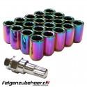 Radmuttern Tuner petrol Stahl Kegelbund