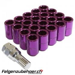 Radmuttern Tuner violett Stahl Kegelbund