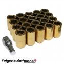 Radmuttern Tuner gold Stahl Kegelbund