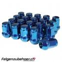 Radmuttern Stahl blau Kegelbund