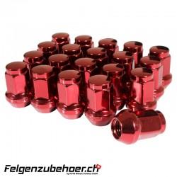 Radmuttern Stahl rot Kegelbund