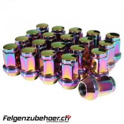 Radmuttern Stahl petrol M12X1.25 Kegelbund