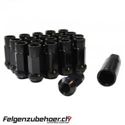 Radmuttern GT50 schwarz M12X1.25 Stahl Kegelbund