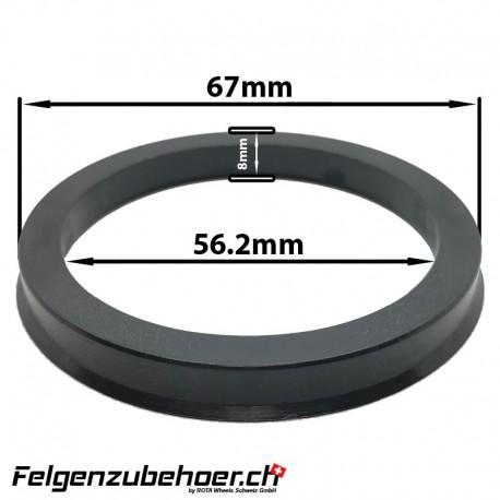 Zentrierring aus Kunstoff 8mm 54.1-73.1