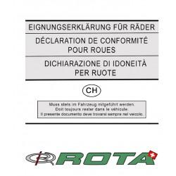 Felgen Gutachten für ROTA Wheels