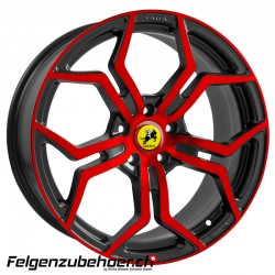 WP 121 gloss black anodize red