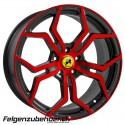 WP 121 8.5X19 5X112 gloss black anodize red
