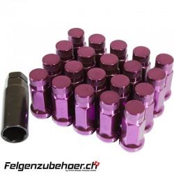 Radmuttern GT50 geschlossen purple Stahl Kegelbund