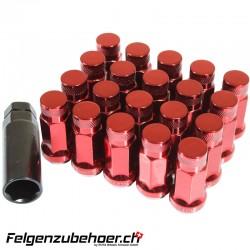 Radmuttern GT50 geschlossen rot Stahl Kegelbund