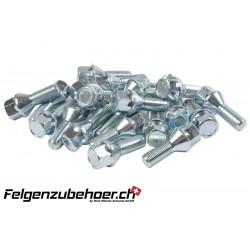 Radschrauben speziallänge chrom M12X1.5 Stahl Kegelbund