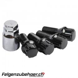 Radschraubenschloss schwarz 26mm