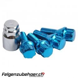 Radschraubenschloss blau 26mm