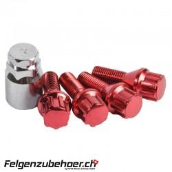 Radschraubenschloss rot 26mm