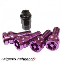 Radschraubenschloss purple 26mm