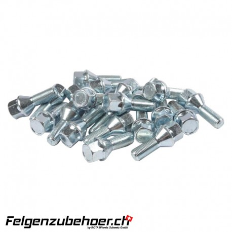 Radschrauben chrom Stahl Kegelbund 26mm