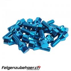 Radschrauben Stahl blau Kegelbund