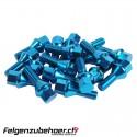 Radschrauben Stahl blau Kegelbund 26/28mm