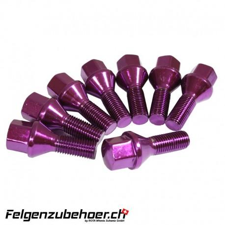 Radschrauben purple Stahl Kegelbund