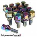 Radschrauben Stahl petrol Kegelbund 26/28mm