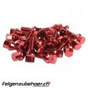 Radschrauben Stahl rot Kegelbund 26/28mm