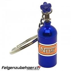"""Schlüsselanhänger """"NOS"""" Flasche blau"""