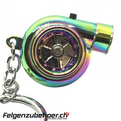 Schlüsselanhänger Turbo mit LED & Turbo Sound Neo Chrome