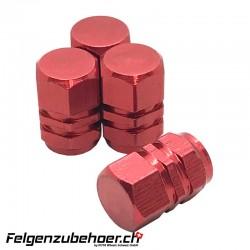 Ventildeckel Alu - Valve Cap Version flach 4stk.