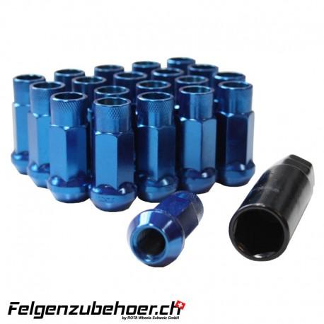Radmuttern GT50 Blau M12X1.25 Stahl Kegelbund