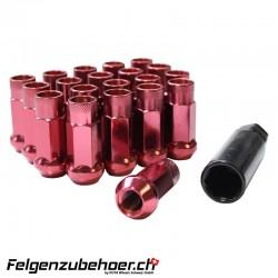 Radmuttern GT50 rot M12X1.25 Stahl Kegelbund