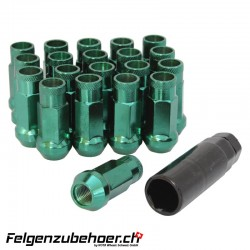 Radmuttern GT50 grün M12X1.25 Stahl Kegelbund