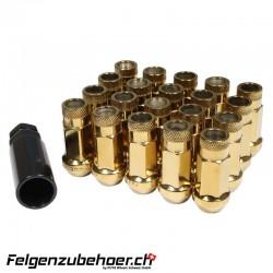 Radmuttern GT50 gold M12X1.25 Stahl Kegelbund