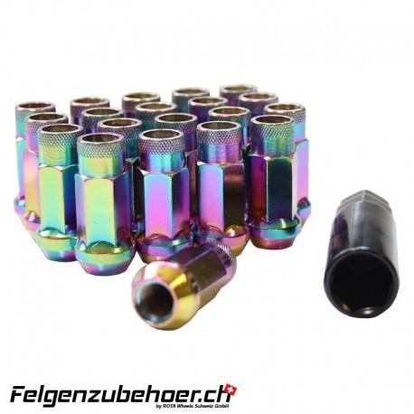 Radmuttern GT50 petrol M12X1.25 Stahl Kegelbund