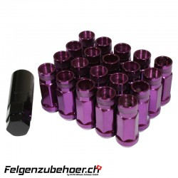 Radmuttern GT50 violett M12X1.25 Stahl Kegelbund