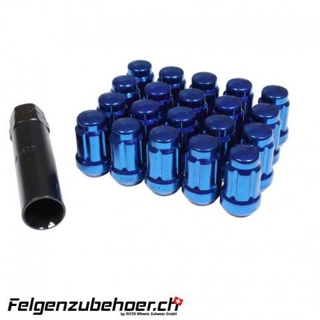 Radmuttern SD20 Blau M12X1.25 Stahl Kegelbund