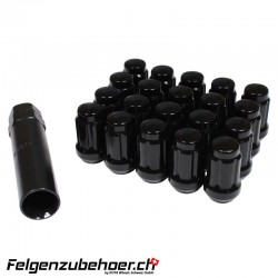 Radmuttern SD20 schwarz Stahl Kegelbund