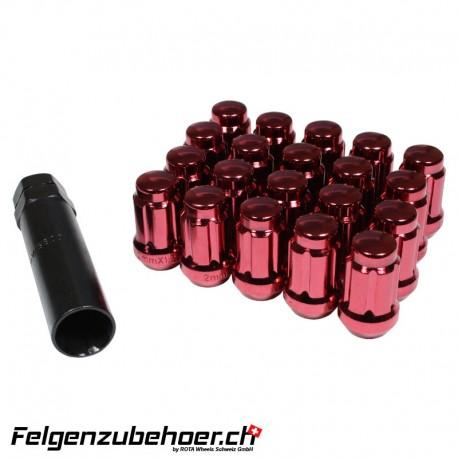 Radmuttern SD20 Rot M12X1.25 Stahl Kegelbund