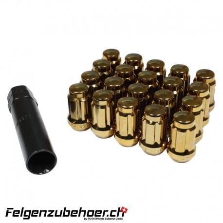 Radmuttern SD20 gold M12X1.25 Stahl Kegelbund
