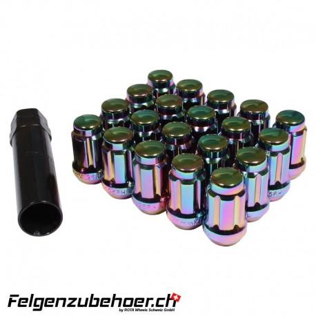 Radmuttern SD20 petrol M12X1.25 Stahl Kegelbund