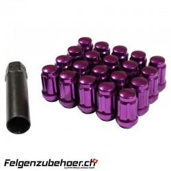 Radmuttern SD20 violett M12X1.25 Stahl Kegelbund